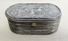 Russian Antique Pewter Jewellery Box, 19th cen