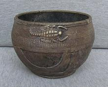 India Antique Bronze Bowl, Dhokra from Orissa