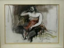 Esther Peretz Arad (1921-2005), Woman Resting
