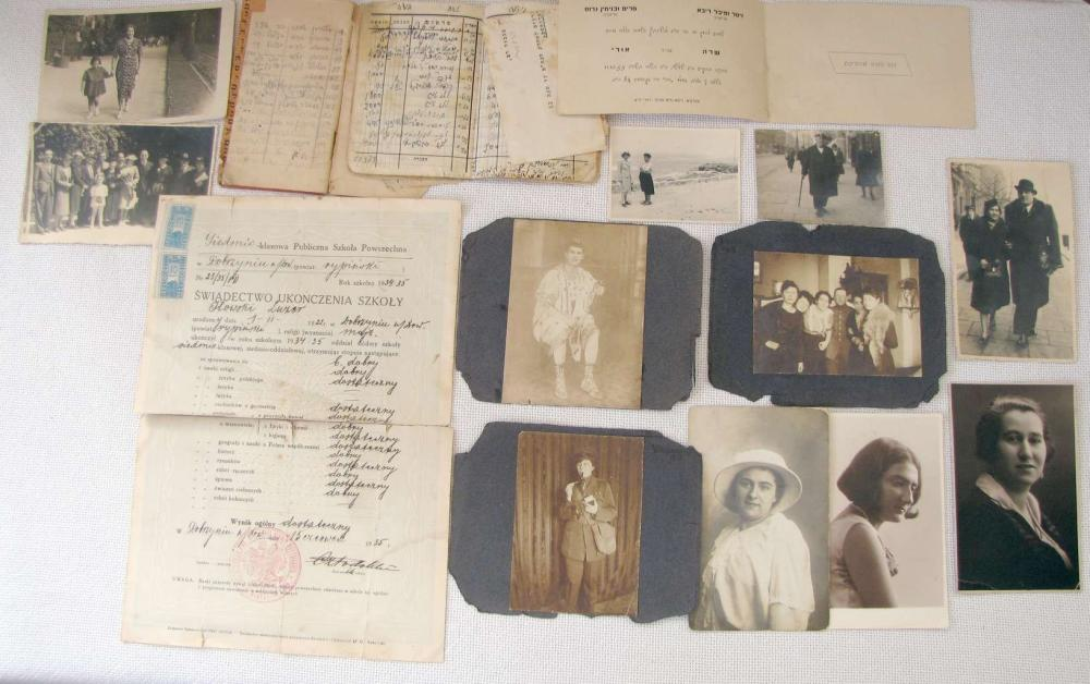 ARCHIVE OF A JEWISH FAMILY, 18 ITEMS, POLAND, PALESTINE, 1ST HALF OF 20TH CEN.