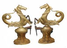 Bronze Seahorse Andirons