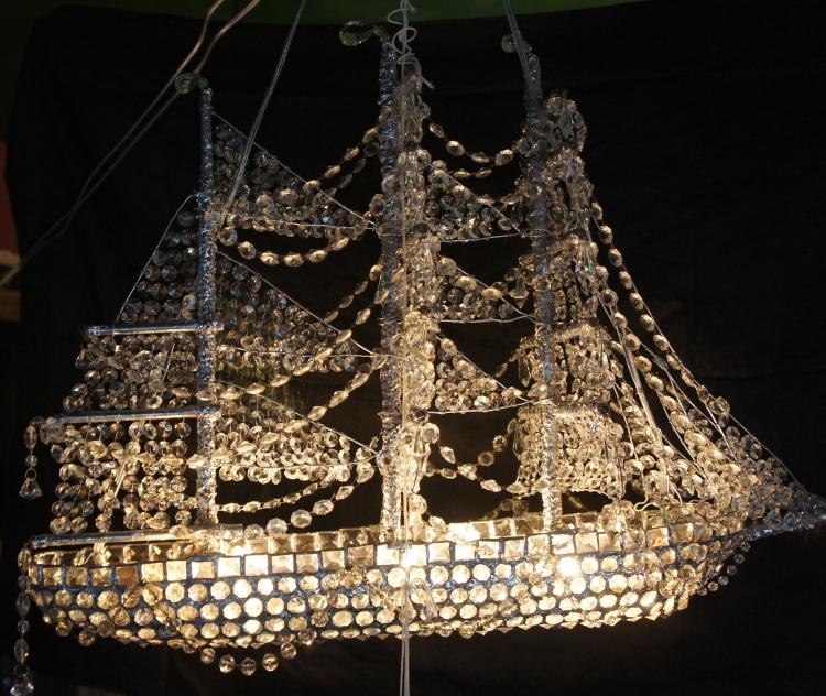 Crystal Ship Chandelier