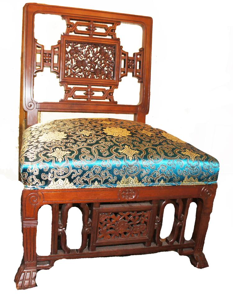 Herter Bros Style Japanesque Aesthetic Parlor Chair