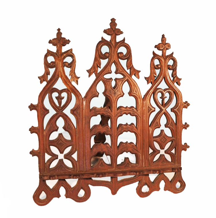 Carved Wood Gothic Book Stand from San Francisco 1870's