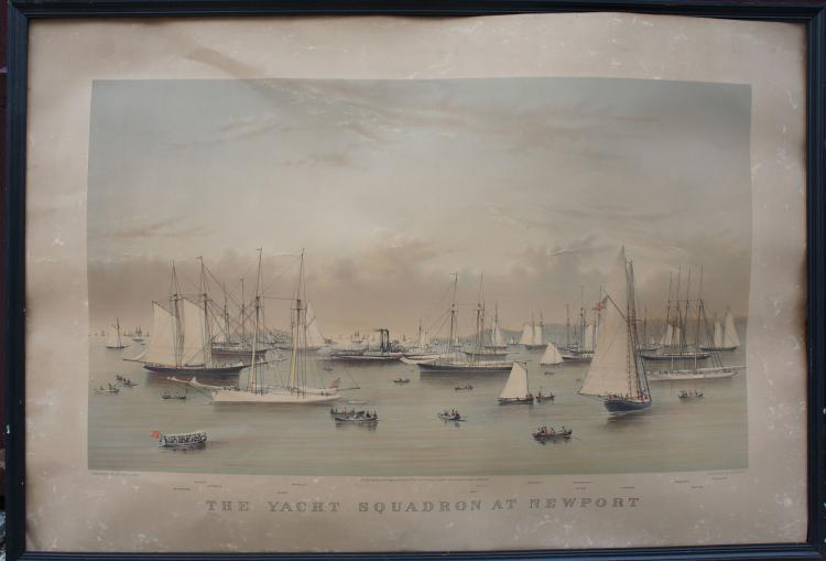 Currier & Ives The Yacht Squadron at Newport 1878