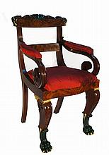 American Empire Federal Altar Boy Chairs Gilbert Stuart Provenance