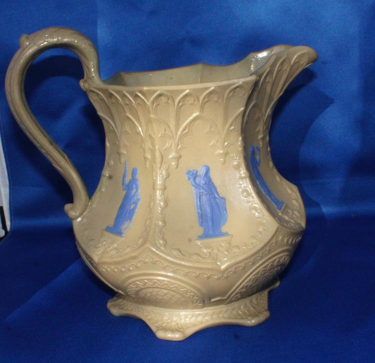 Antique Wedgwood Classical Gothic Pitcher