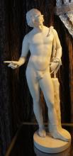 Grand Tour Parian Statue of Roman Figure Narcissus