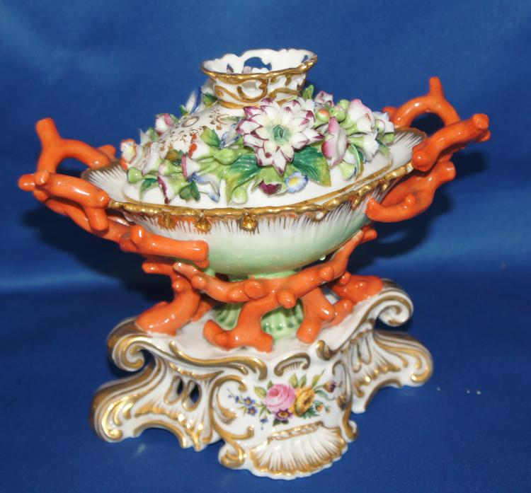 19th century French Paris Porcelain Jacob Petit Potpourri