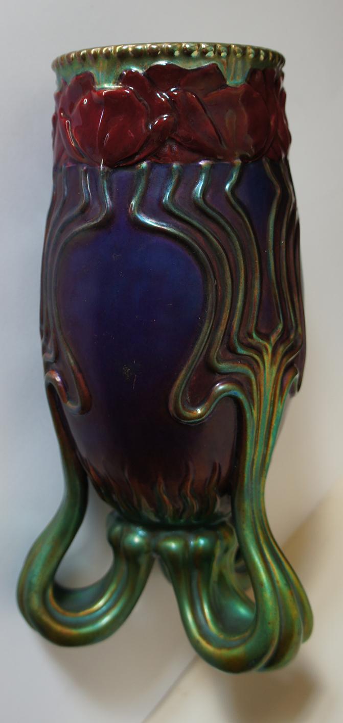 Zsolnay Art Nouveau Vase Lajos Mack Circa 1898-1900