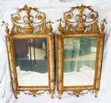 Pair of early 19th Century Bilbao Mirrors