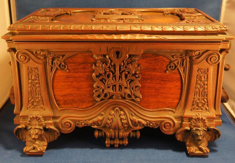Italian Art Nouveau Jewelry Box Circa 1900