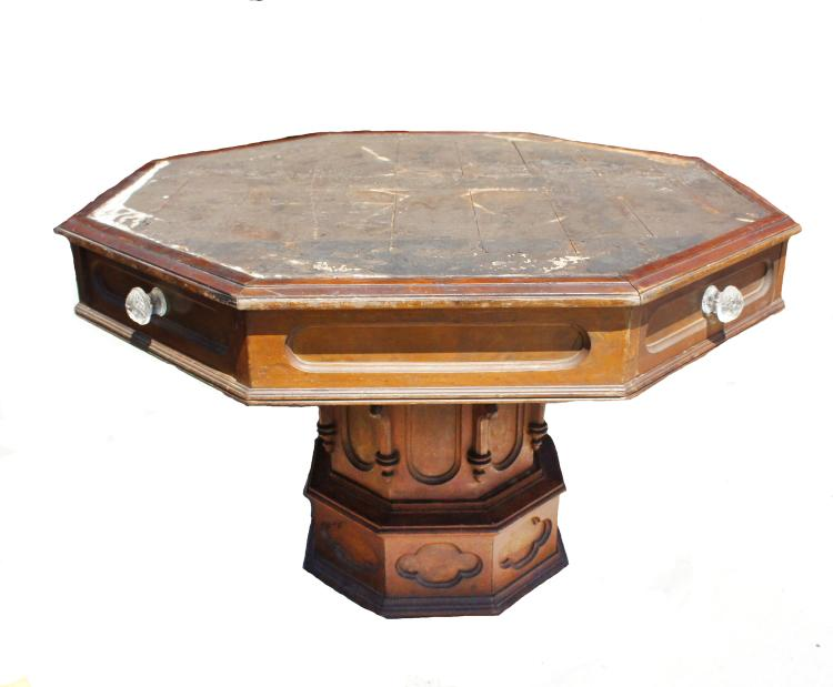 American Gothic Octagonal Library Table New York