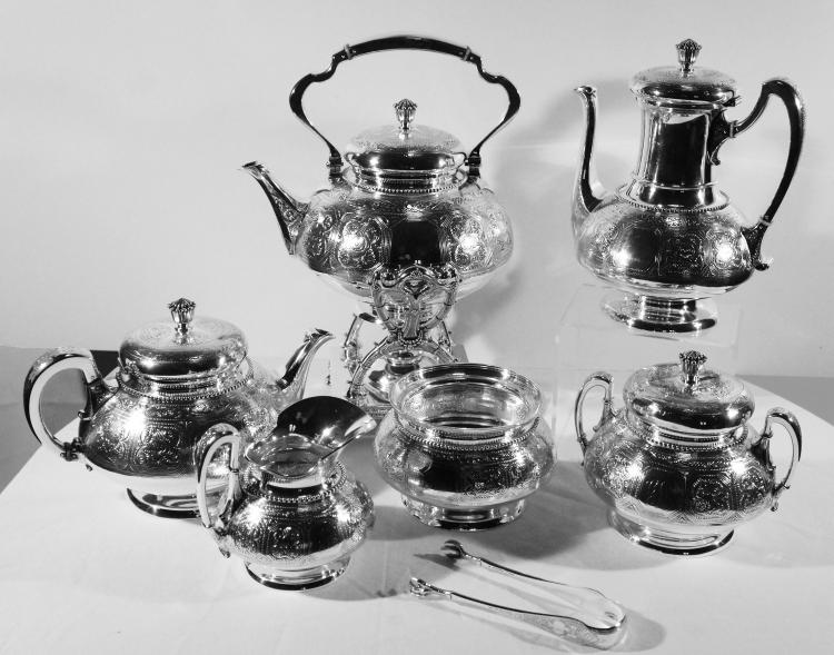 Seven Piece Tiffany Sterling Silver Tea Service