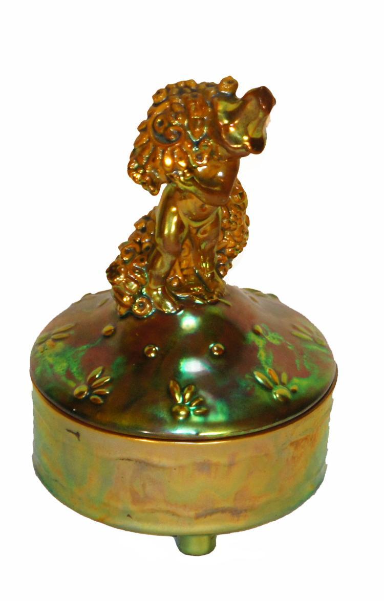 Michael Powolny Style Zsolnay Figural Box Art Deco Era