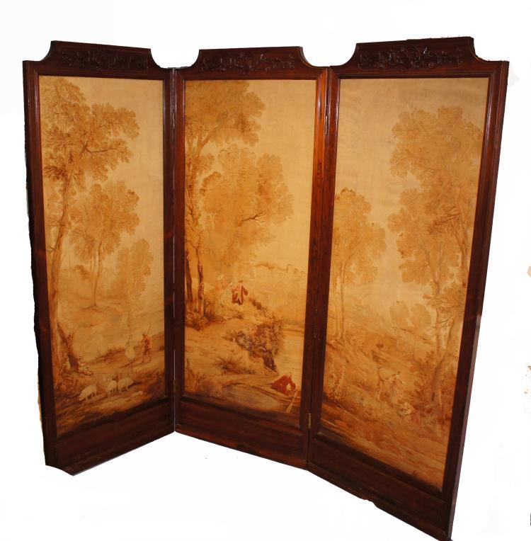 Herter Bros Baumgarten Rosewood Tapestry Screen