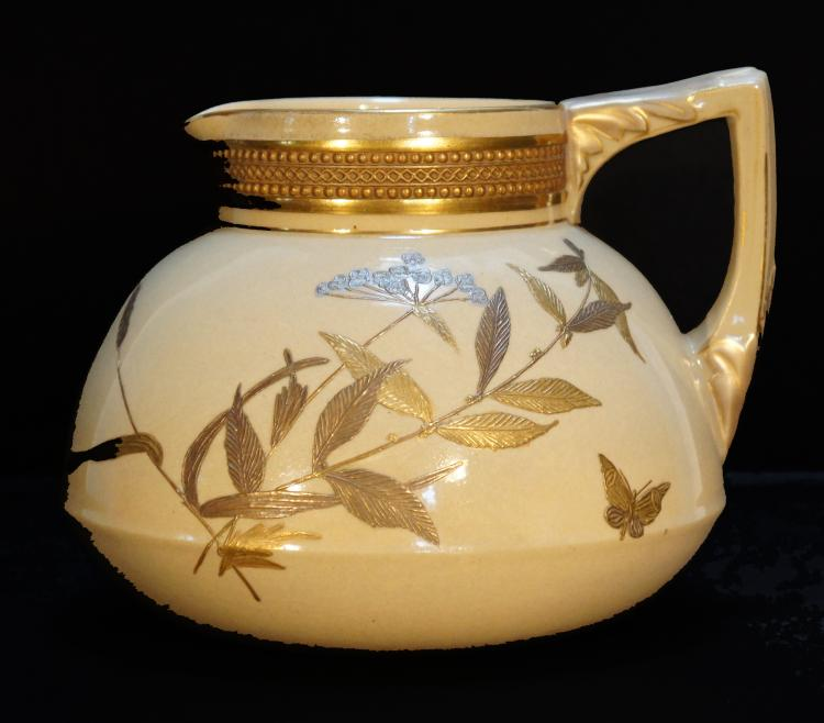 D.F. Haynes Chesapeake Aesthetic Movement Pottery Pitcher