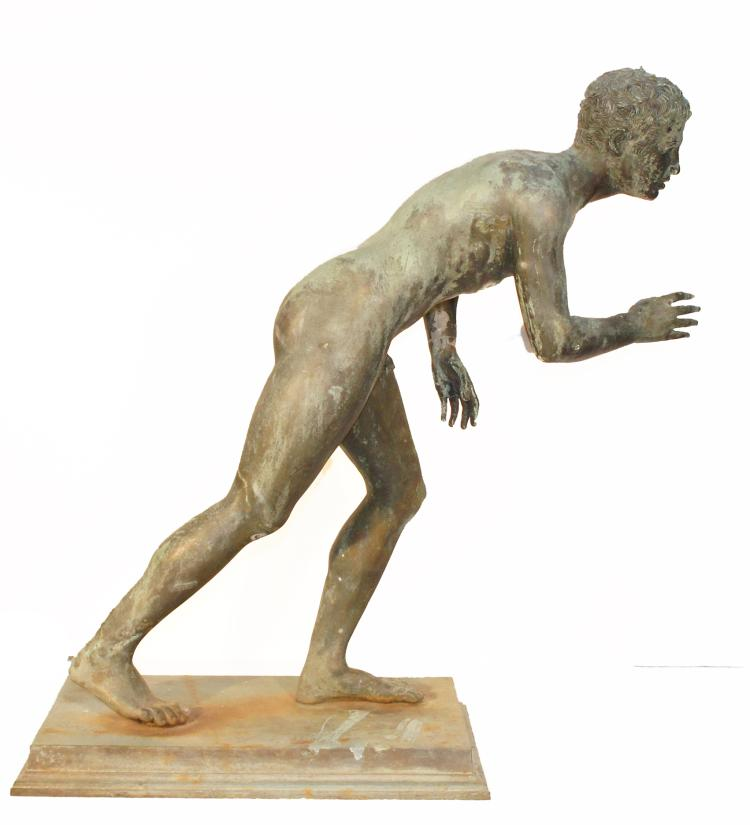 Grand Tour Bronze Athlete 19th Century