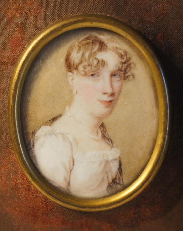 Portrait Miniature by William J. Thompson 1811 Savannah Georgia