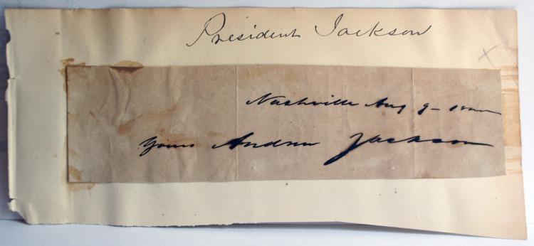 Signature of United States President Andrew Jackson