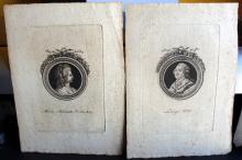 Italian Louis XVI Marie Antoinette Engravings 18th Century