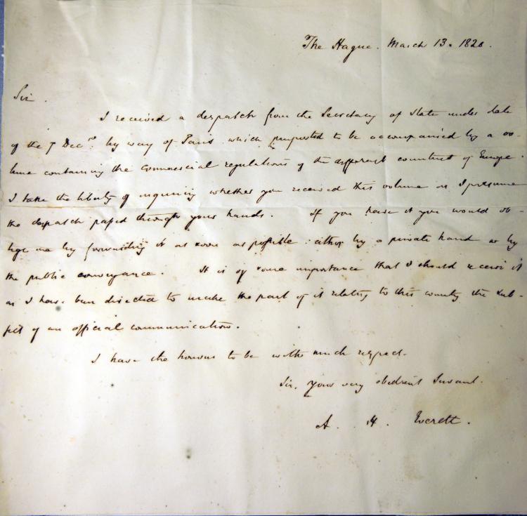 ALS Alexander Hill Everett American Diplomat Boston 1820