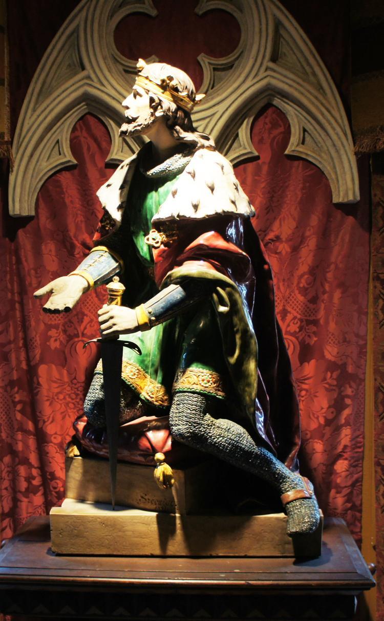 Zsolnay Statue of King Laszlo - Ladislav of Hungary