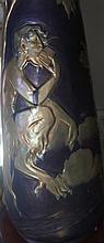 Zsolnay Circa 1900 Art Nouveau Pan Vase