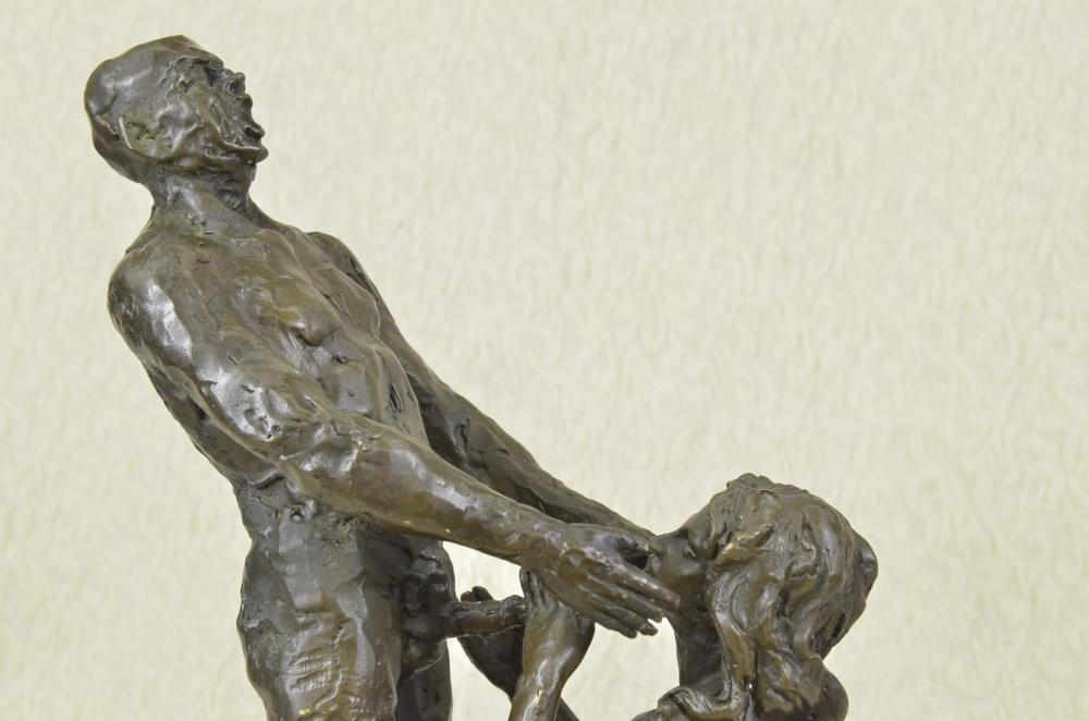 Naked Stripper Nude Hot Girl Bronze Statue on marble base