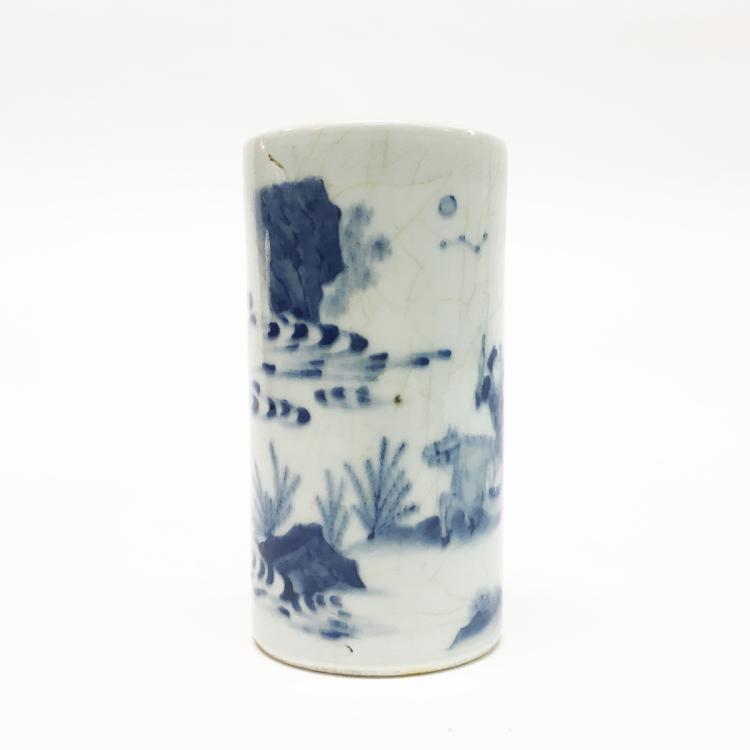 Chinese Porcelain Blue and White Brush Pot