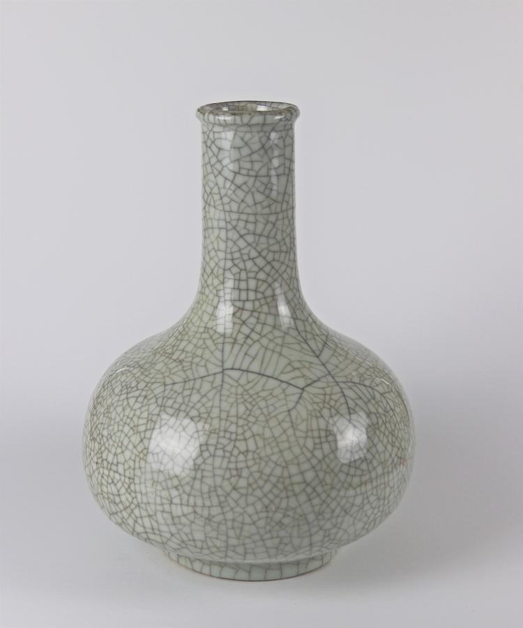 Chinese Porcelain Vase with Crackled Glaze