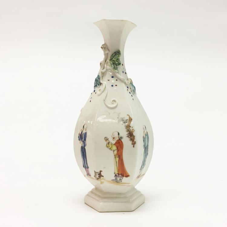 Chinese Vase in Unusual Cream Color