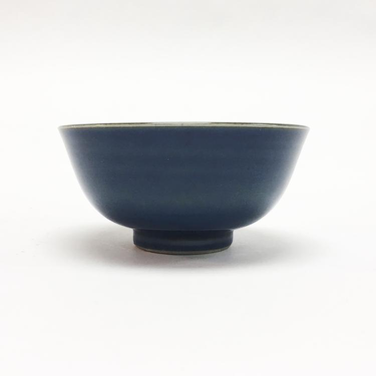 Chinese Monochrome Blue Bowl, Qing Dynasty
