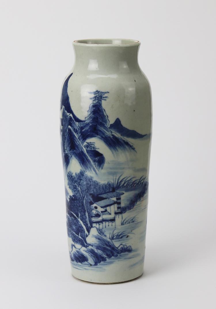 Chinese Porcelain Blue and White Vase.