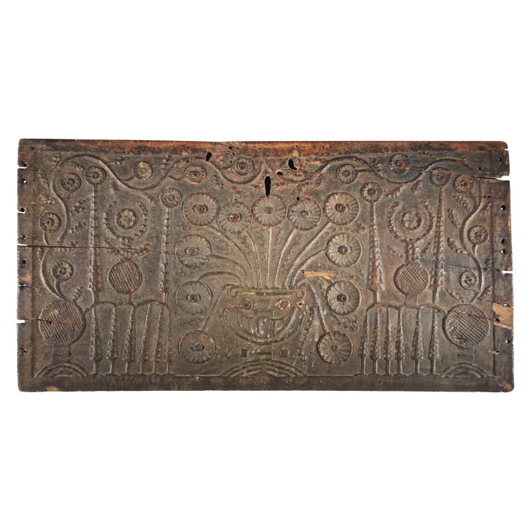 A Carved Wooden Panel