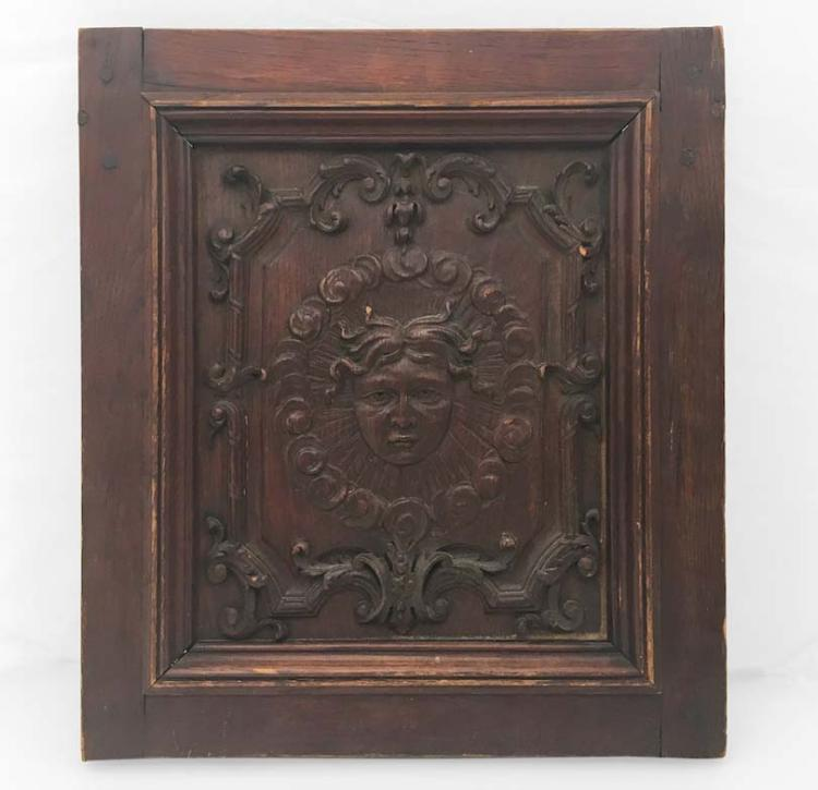 Carved Wood Panel, English or Dutch