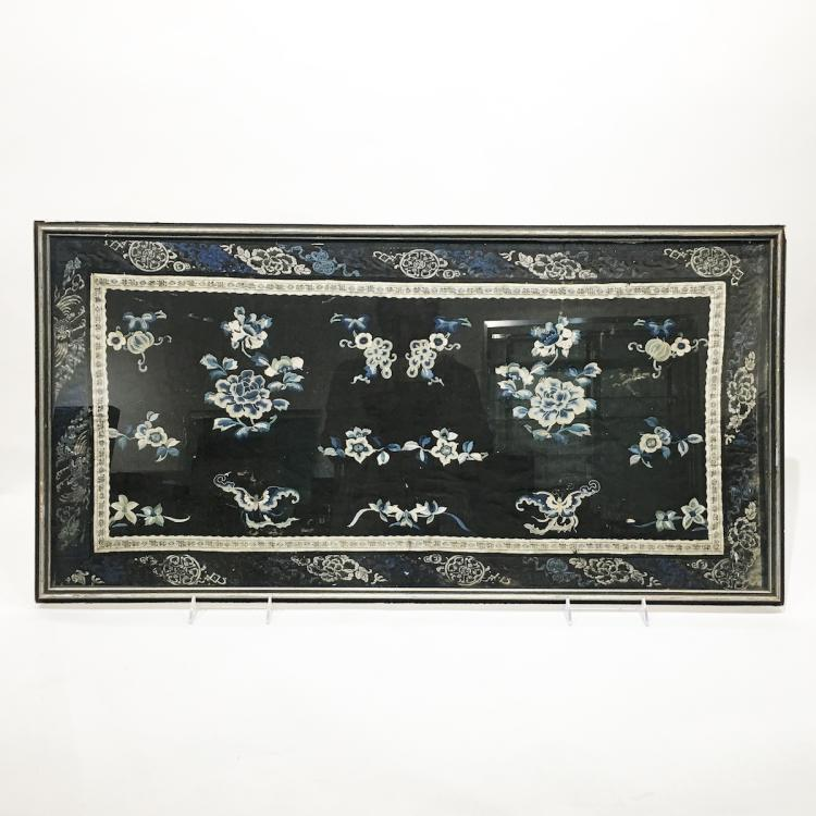 Chinese Textile, Framed