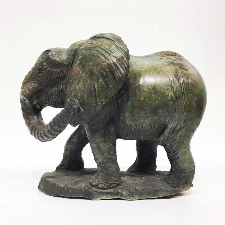 Verdite stone elephant shona sculpture zimbabwe