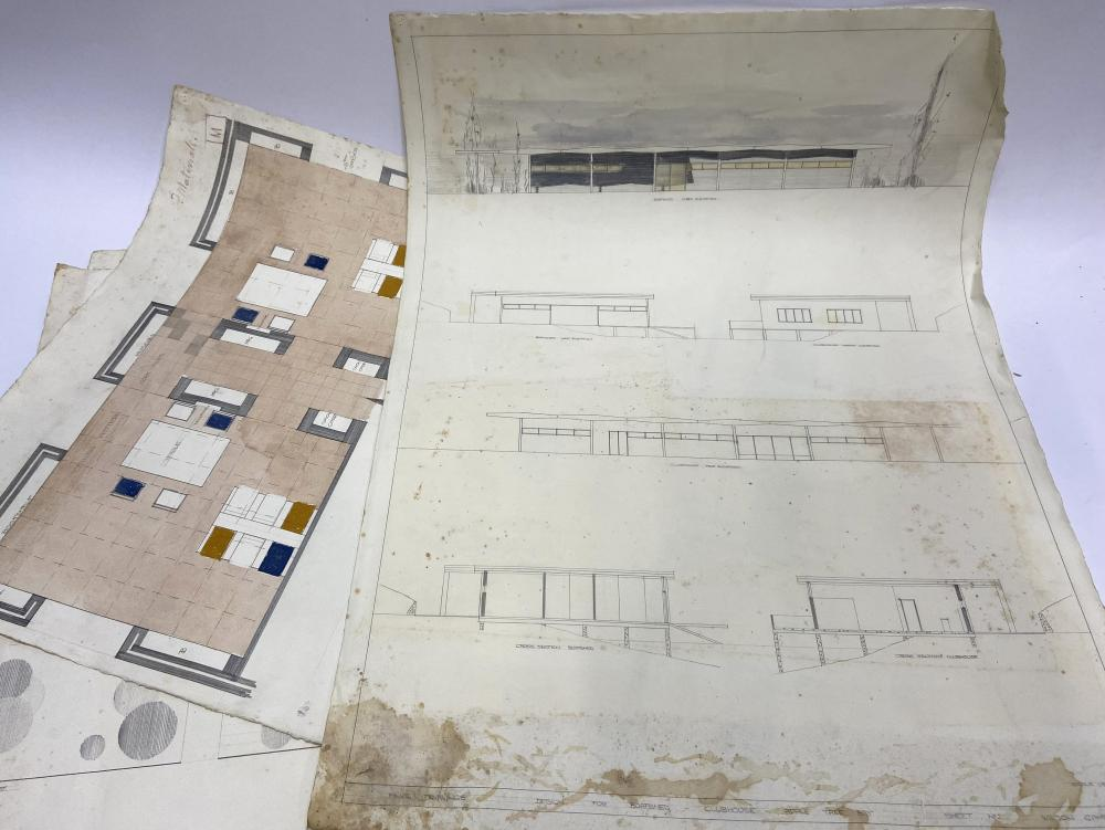 GAMBLE, Wilson (Architect), Five Architectural Drawings, Mosman & Apple Tree Bay