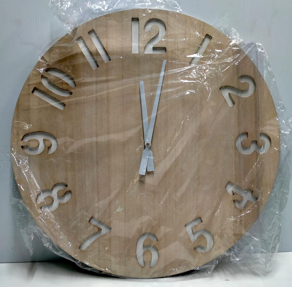 A battery operated wall clock, Dia. 60 cm