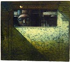 Michael Kempson (b.1961) The Watcher 1987 Colour etching/aquatint ed.3/30