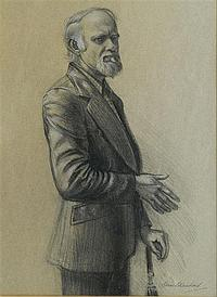 Brian Blanchard (1934) The Leather Jacket, Charcoal, signed lower right, 40 x 29 cm