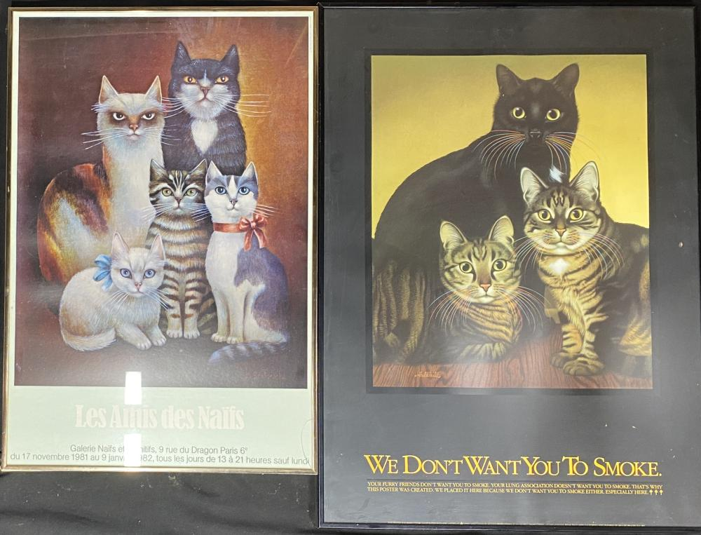 A Collection of Framed Posters of Cats [4]