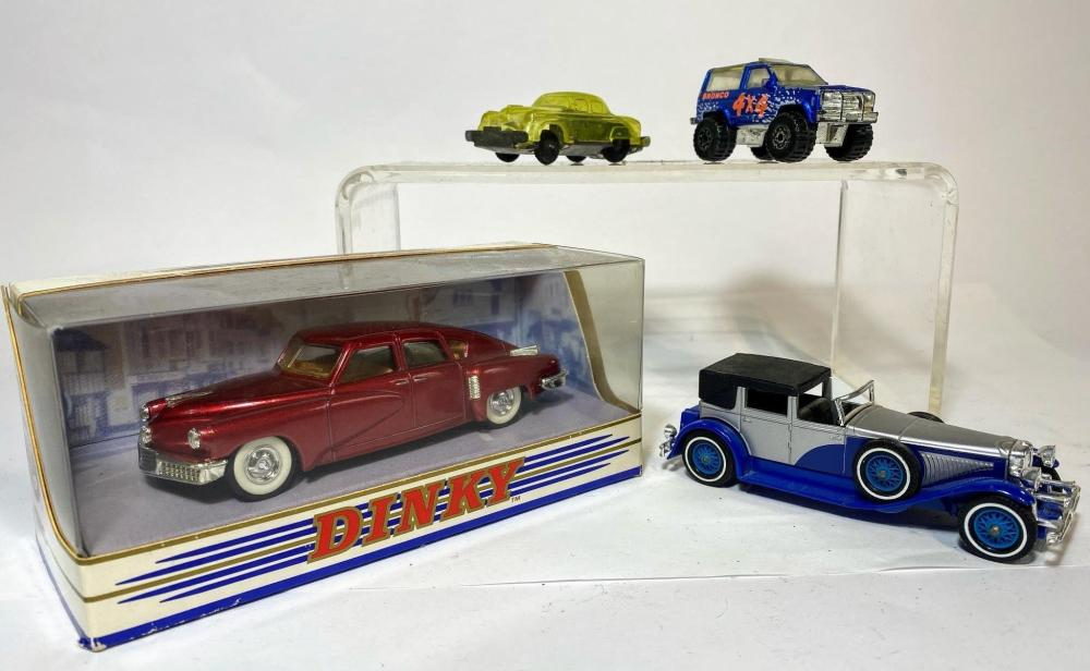 A Collection of Toy Cars Including a Dinky 1948 Tucker Torpedo and a Models of Yesteryear 1930 Dusenberg Model J Brougham