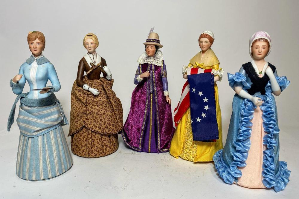 A Collection of Limited Edition Great American Woman Including Pocahontas Betsy Ross Martha Washington Maria Cassatt Harriet Beecher Stowe by the United States Historical Society