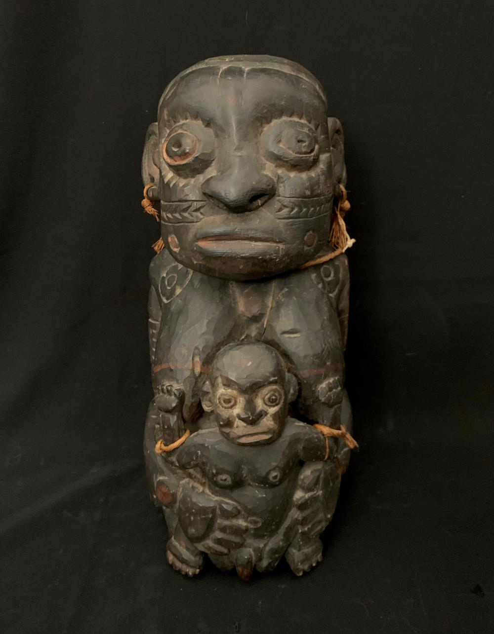 An Ancestral Figure of Mother and Child, Kambot Village, Sepik River Region, Papua New Guinea