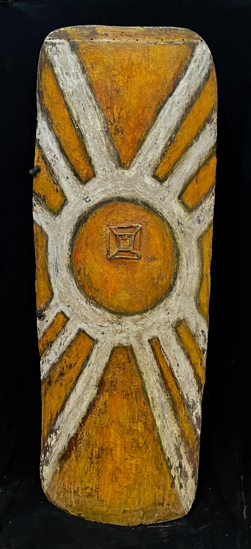 A Large Fighting Shield, Wahgi Valley, Highlands Region, Papua New Guinea
