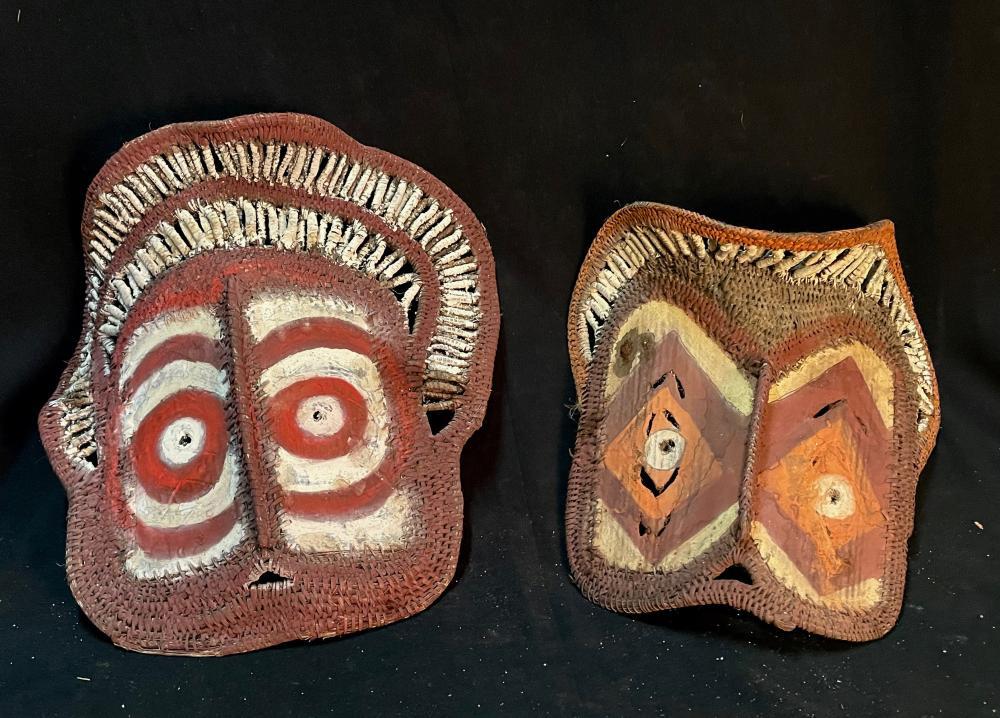 Two Yam Masks, Abelam People, Wosera Region, East Sepik Province, Papua New Guinea