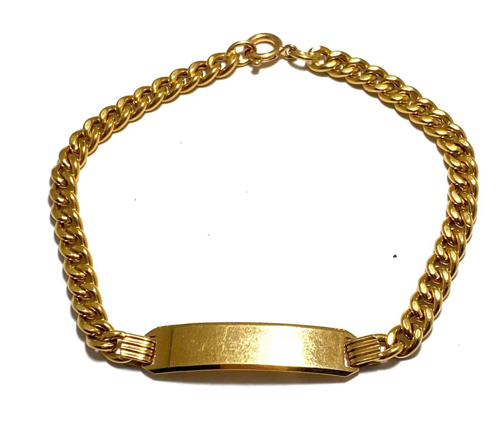 An 18ct Yellow Gold ID Bracelet, Italy