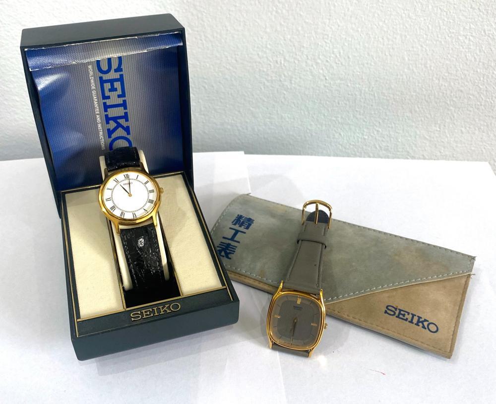 Two Seiko Gentleman's Wrist Watches